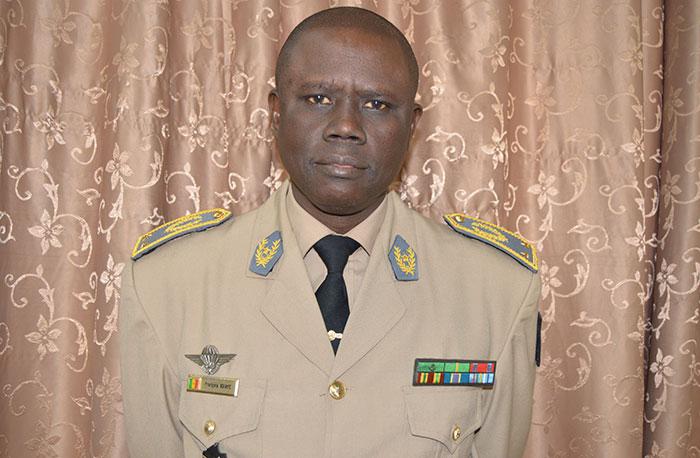 الجنرال افرانسوا انداي قائد القوات العسكرية للإيكواس.