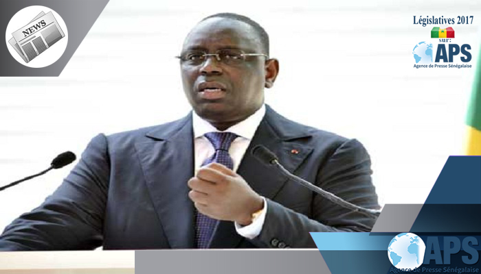 ماكي صال الرئيس السنغالي.