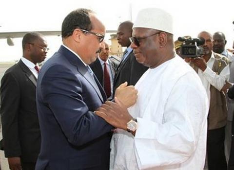 الرئيسان المالي أبراهيم أبوبكر كيتا، والموريتاني محمد ولد عبد العزيز