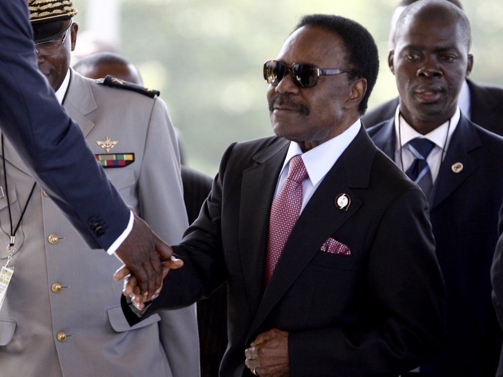 الرئيس الغابوني الراحل عمر بونغوـ فاتح يوليو 2007 بالعاصمة الغانية أكرا.