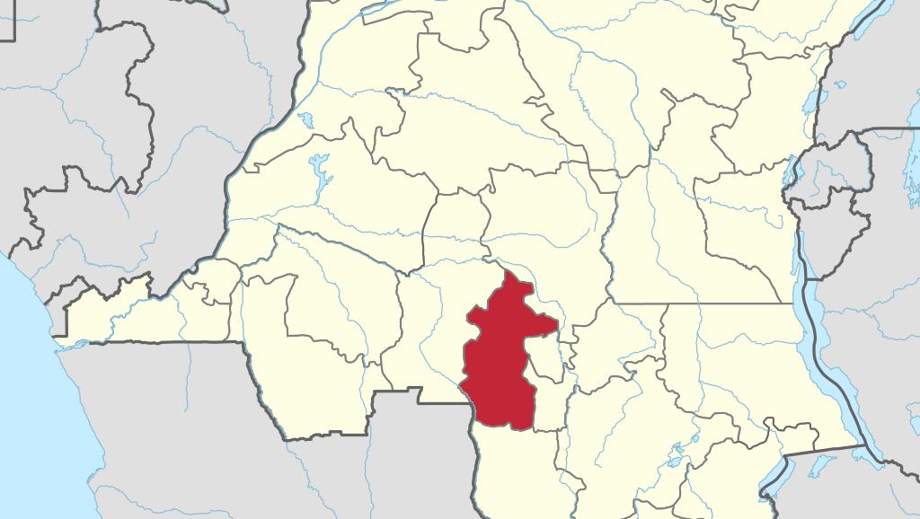 تقع ولاية كازاي وسط جمهورية الكونغو الديمقراطية.
