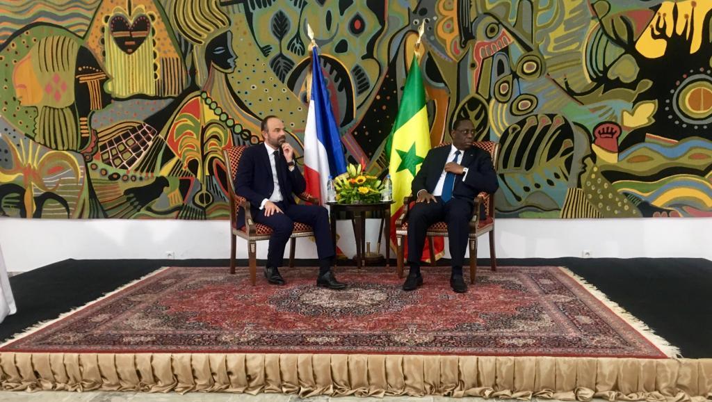 الرئيس السنغالي ماكي صال ورئيس الوزراء الفرنسي أدوار فيليب