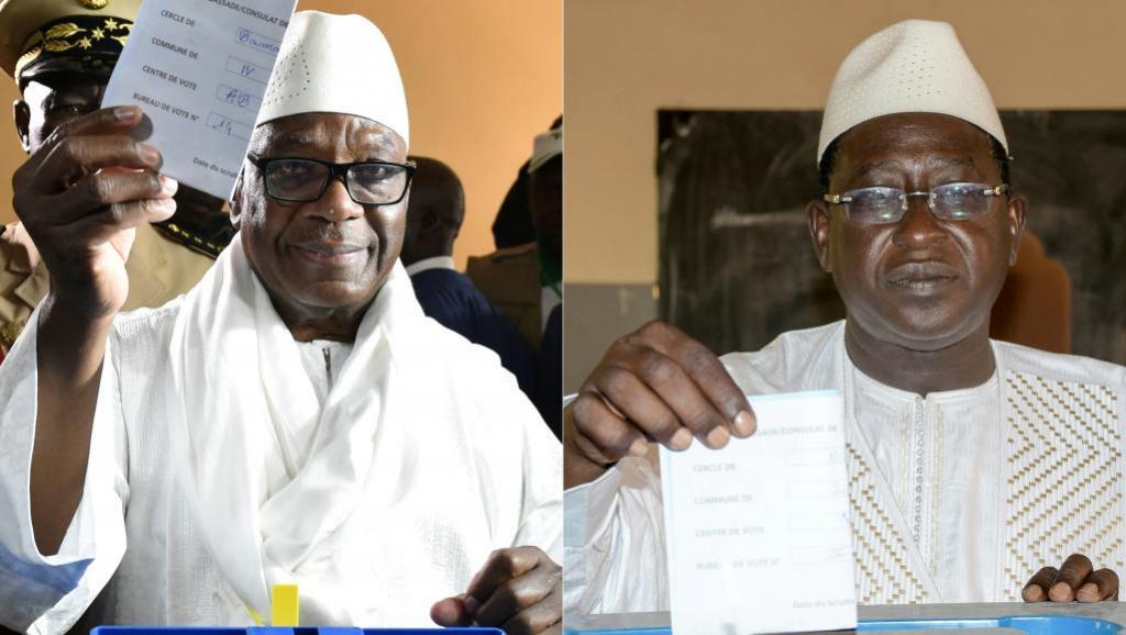 سومايلا سيسي وإبراهيم بوبكر كيتا المتنافسان خلال الجولة الانتخابية الثانية.