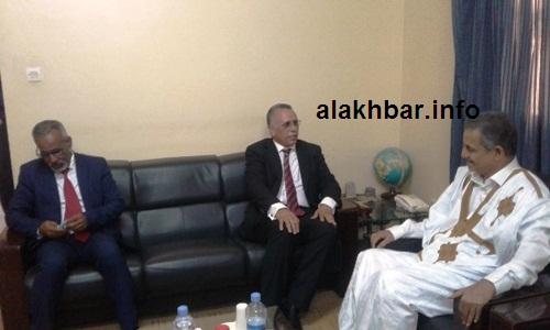 جانب من لقاء العمدة مع رئيس اللجنة الوطنية لحقوق الإنسان/ الأخبار