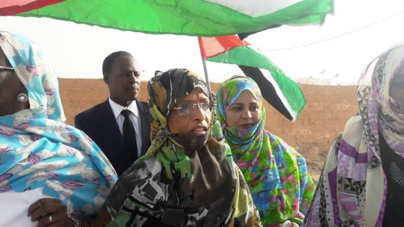 البرلمانية فاطمة بنت الميداح رئيسة الفريق البرلماني لمناصرة القضية الفلسطينية