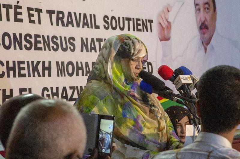 رئيسة المبادرة مريم بنت عبد الفتاح خلال كلمتها