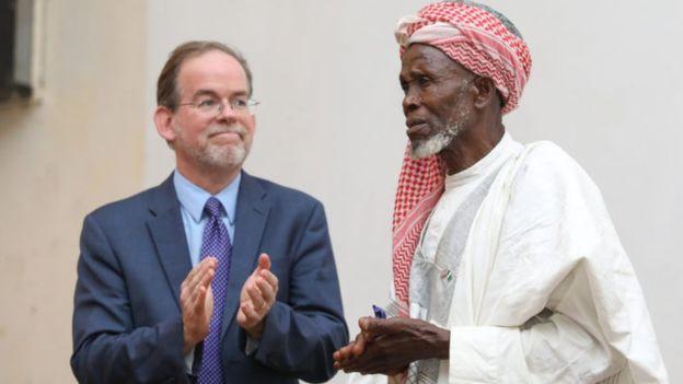 الإمام النيجيري أبوبكر عبد الله لدى تكريمه