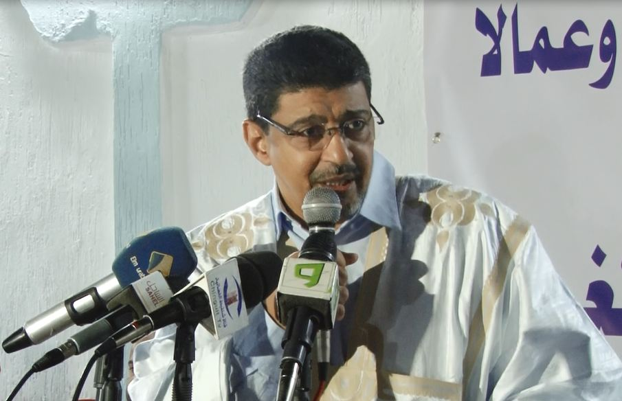 رئيس حزب الاتحاد من أجل الجمهورية سيدي محمد ولد محم خلال حديثه في النشاط السياسي البارحة