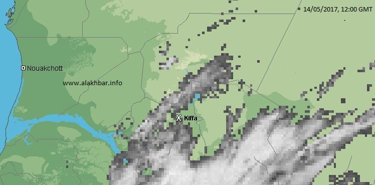 خارطة توزيع الأمطار أمس (الأخبار)