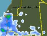 خارطة توقع توزع الامطار فجر الإثنين 21 أغسطس 2017