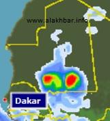 خارطة توقع توزع الامطار صباح 22 أغسطس