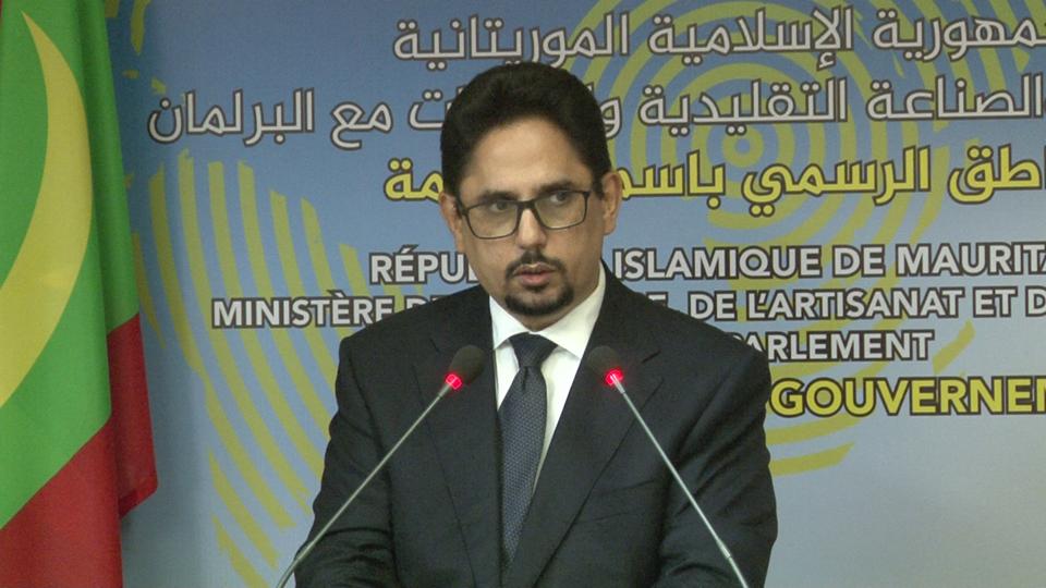 محمد الأمين ولد الشيخ: الناطق الرسمي باسم الحكومة الموريتانية.