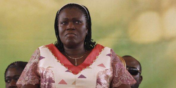سيمون غباغبو السيدة الأولى السابقة في ساحل العاج.
