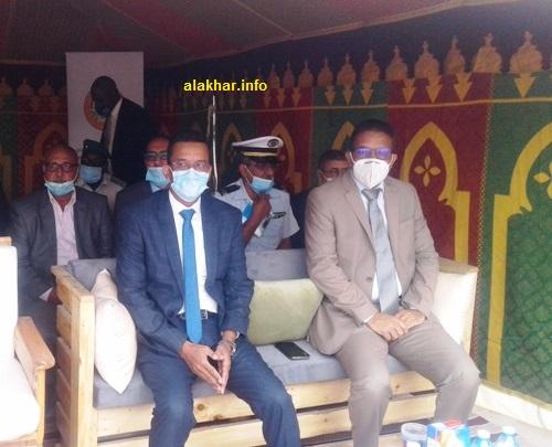 من اليسار رئيس الفريق البرلماني للصيد النائب فضيلي سيداتي حضر في التظاهرة/ الأخبار