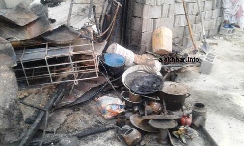 بقايا من بعض الأمتعة التي  التهمتها النيران وفق تصريحات المتضررين/ الأخبار