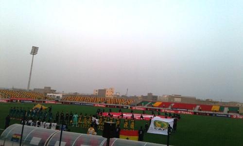 جانب من مواجهة المنتخب الغاني والمغربي والتي سيطر عليها التعادل السلبي/الأخبار