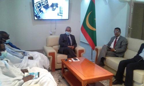 بحث زعيم المعارضة بشكل مطول مع رئيس سلطة المنطقة الحرة اليوم القضايا المرتبطة بالشأن الاقتصادي/ الأخبار