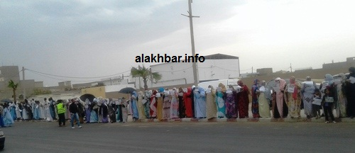 جانب من الوقفة الاحتجاجية اليوم في نواذيبو/الأخبار
