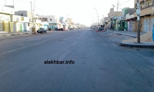 توقفت الحركة على أحد أكثر الشوارع حيوية مساء اليوم في نواذيبو/الأخبار