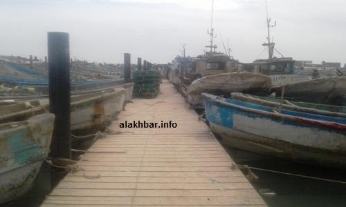 هكذا بدت أحد أرصفة الميناء زوال الإثنين في ثاني أيام الإفتتاح / الأخبار