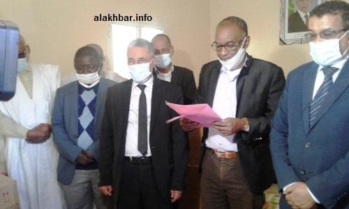 جانب من إشراف السلطات على تسلم دعم هيئة اسنيم الخيرية / الأخبار