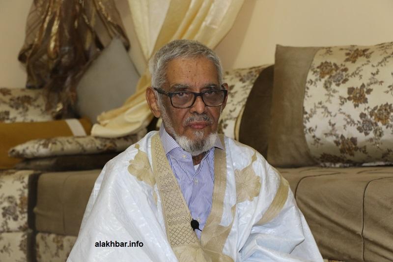 النائب البرلماني السابق محمد المصطفى ولد بدر الدين خلال مقابلة سابقة له مع الأخبار