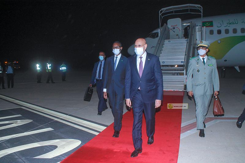 ولد الغزواني في مطار نواكشوط خلال عودته من الكونغو (وما)