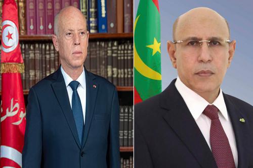 الرئيسان الموريتاني محمد ولد الغزواني، والتونسي قيس سعيد