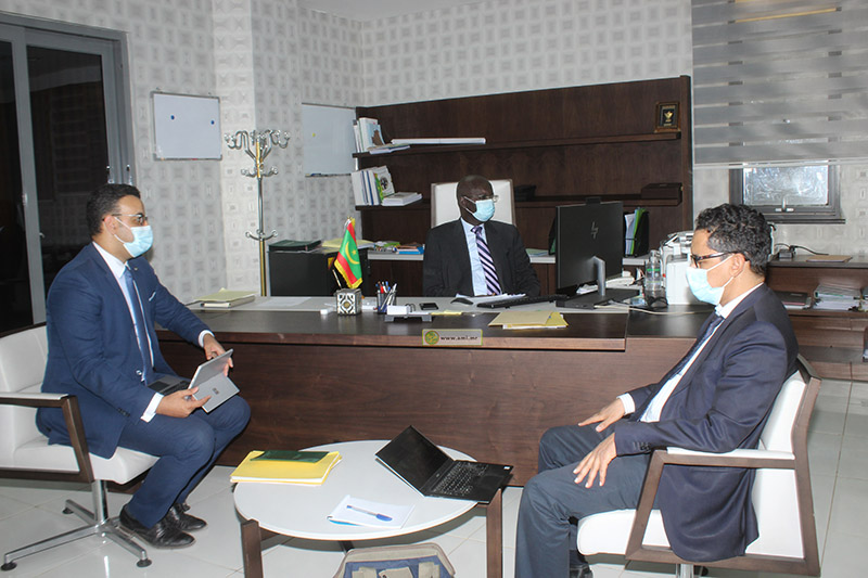 وزير الشؤون الاقتصادية وترقية القطاعات الإنتاجية عثمان مامودو كان خلال مشاركته في المؤتمر اليوم (وما)