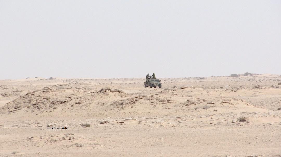 آلية عسكرية في محيط المعبر منتصف نوفمبر الماضي (الأخبار - أرشيف)