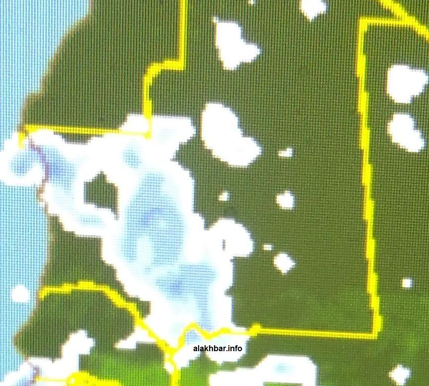 خارطة انتشار السحب ابتداء من مساء الخميس القادم وفقا لمعطيات الطقس في المنطقة