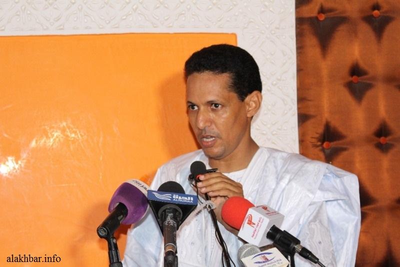 النائب البرلماني وعضو لجنة التحقيق البرلمانية محمد الأمين ولد سيدي مولود (الأخبار - أرشيف)