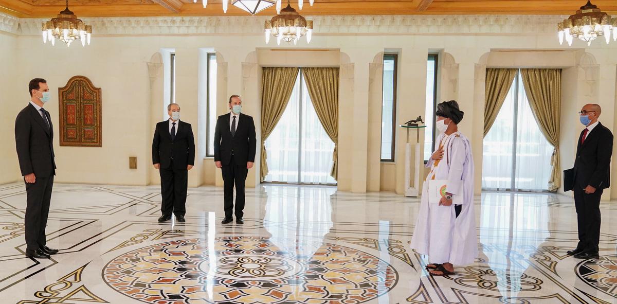 الأسد يستقبل السفير الموريتاني (سانا)