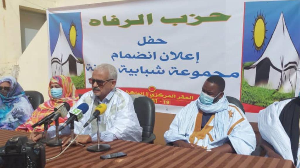 رئيس الحزب محمد ولد فال خلال النشاط اليوم