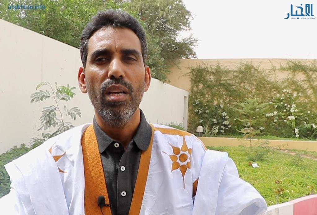 النائب البرلماني محمد بوي ولد الشيخ محمد فاضل خلال تصريح سابق للأخبار