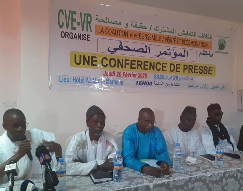 قادة الائتلاف خلال مؤتمر صحفي مساء الخميس في نواكشوط
