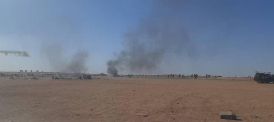 أدت المواجهات لإحراق خيم وأماكن إيواء في المنطقة
