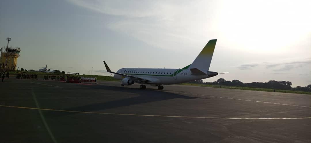 الطائرة الرئاسية في المطار بغينيا بيساو مساء اليوم