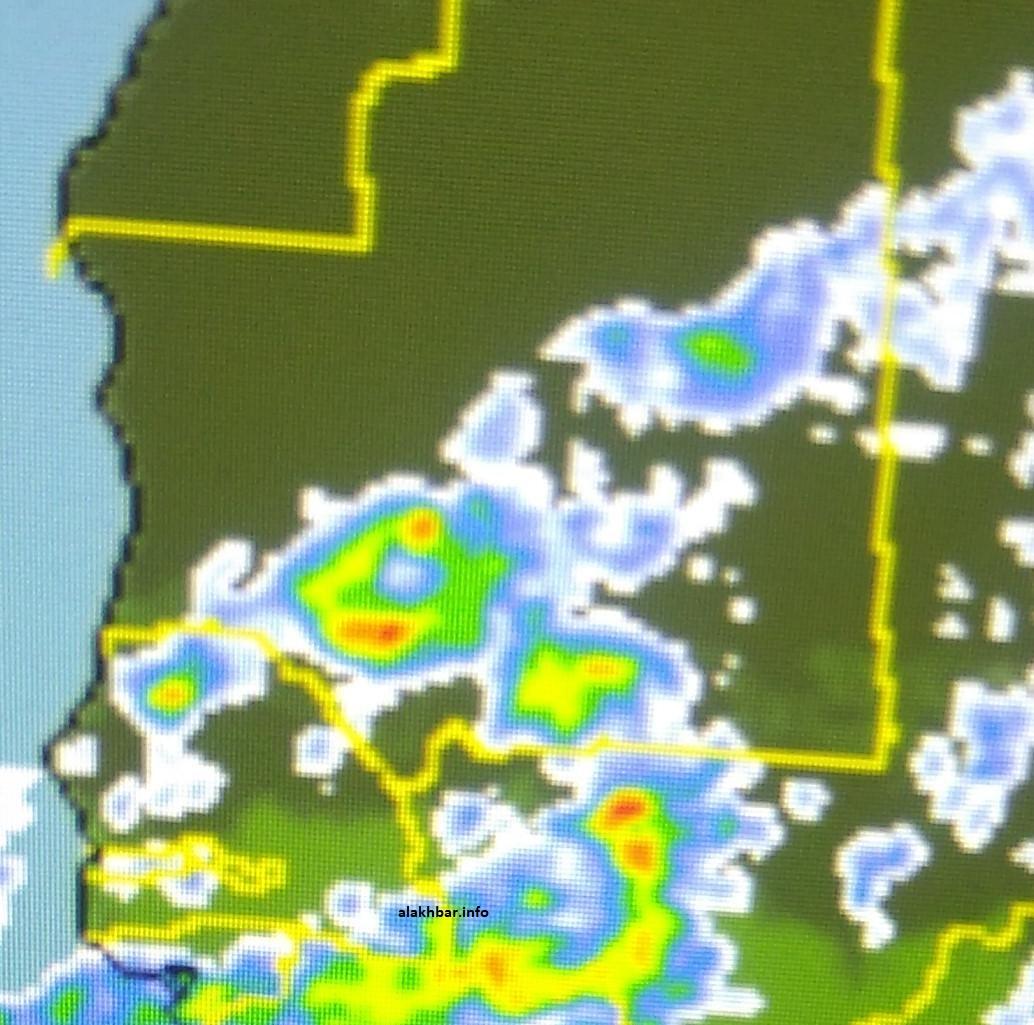 خارطة توقعات انتشار السحب مساء الخميس القادم
