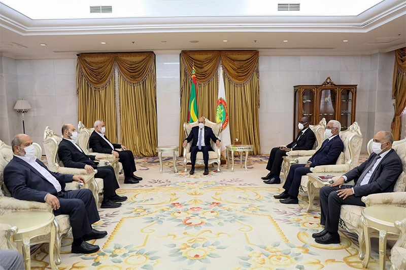 الرئيس محمد ولد الغزواني خلال لقائه مع وفد حركة