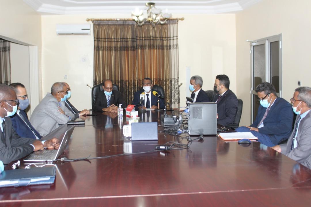 الأمين العام للوزارة خلال افتتاحه للتكوين اليوم الثلاثاء