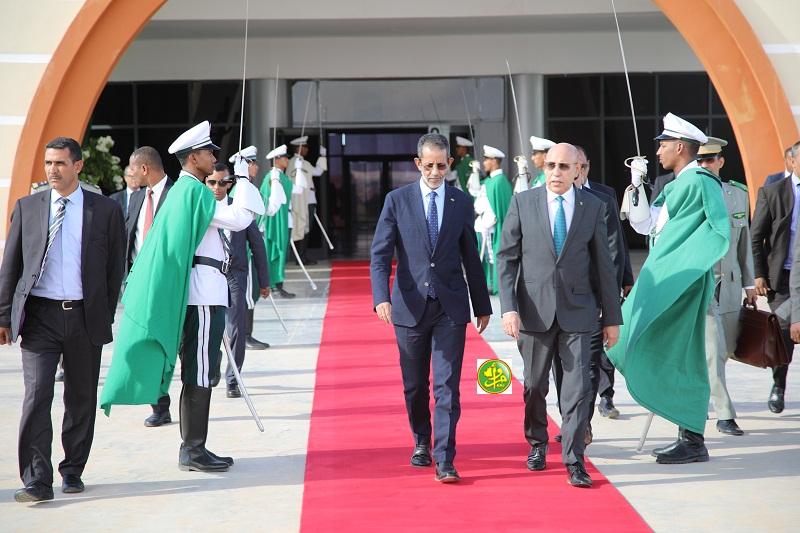 الرئيس الموريتاني محمد ولد الغزواني في مطار نواكشوط خلال سفر سابق (نواكشوط)