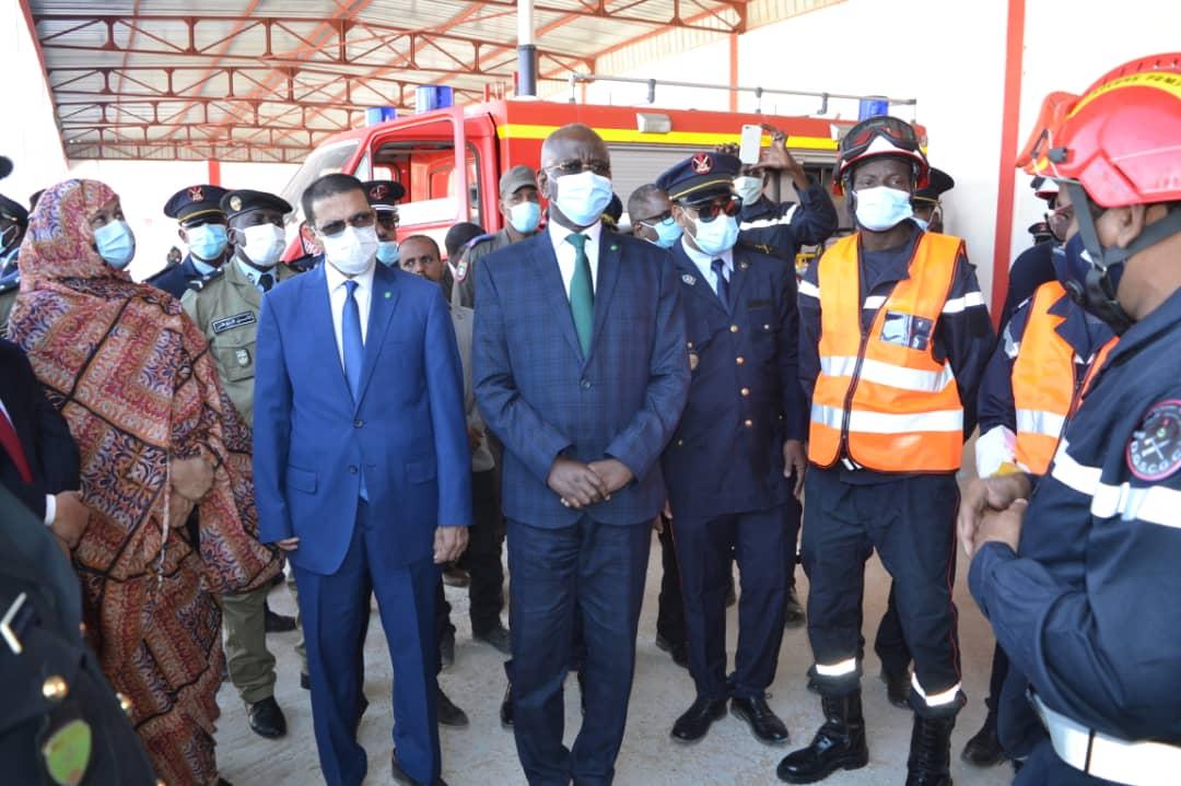 وزيرا الداخلية والصحة خلال الإشراف على فعاليات تخليد اليوم العالمي للحماية المدنية