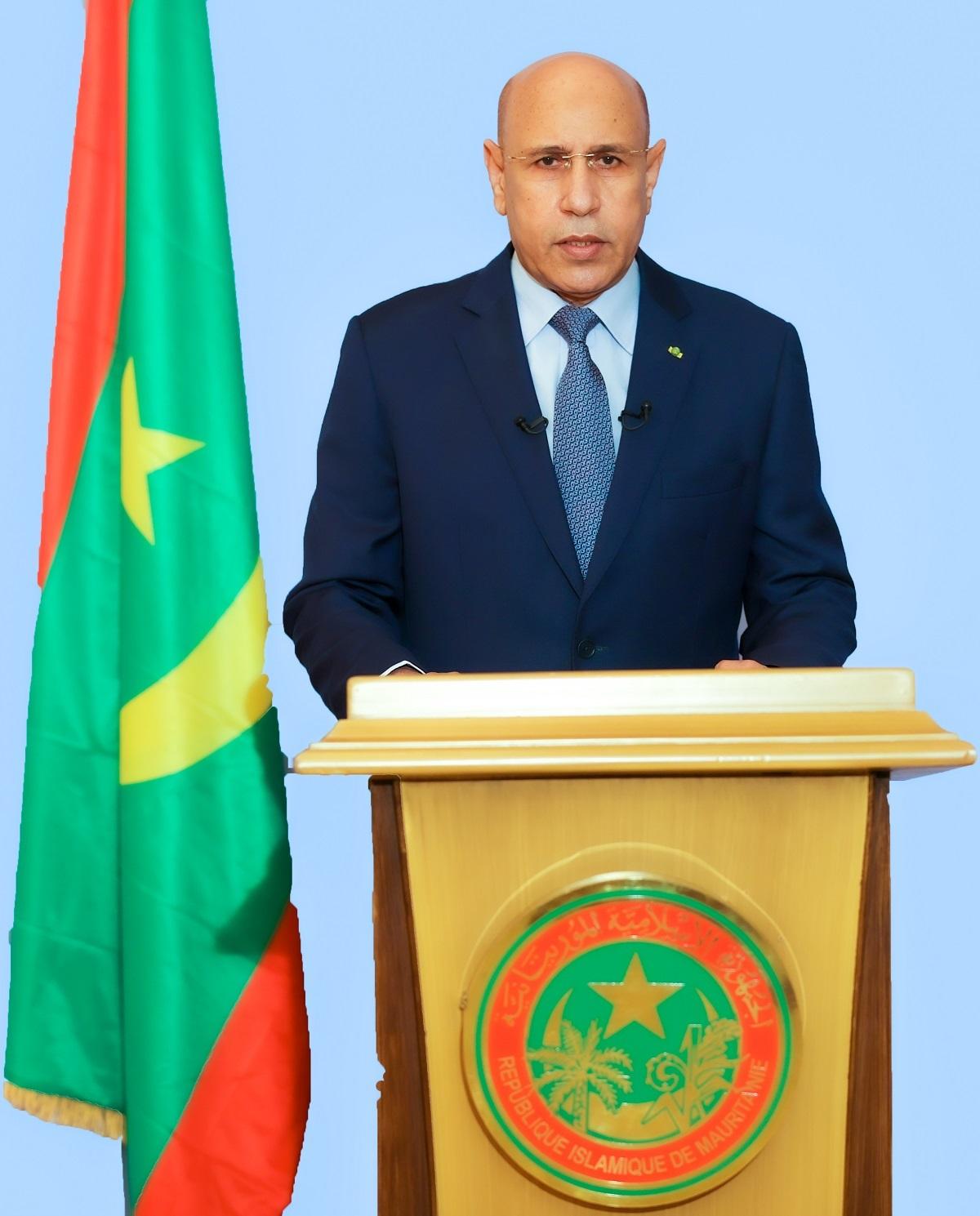 الرئيس محمد ولد الغزواني خلال خطابه الليلة بمناسبة الذكرى 60 للاستقلال (وما)