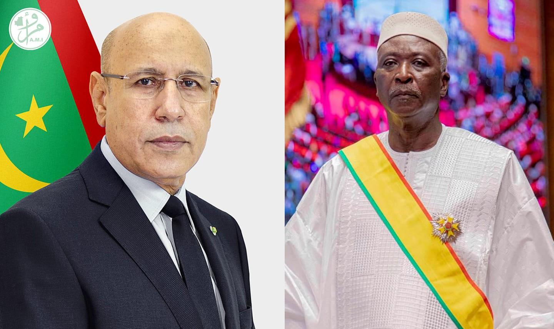 الرئيسان المالي باه اندو، والموريتاني محمد ولد الغزواني