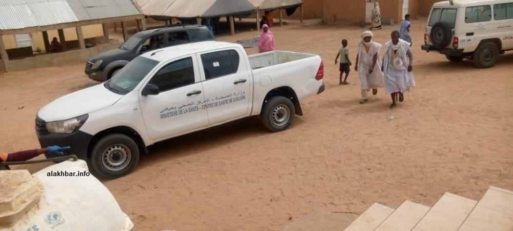 سيارة تابعة للمركز الصحي في جكني بولاية الحوض الشرقي
