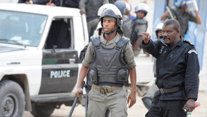 أفراد من الشرطة الموريتانية خلال احتجاجات سابقة