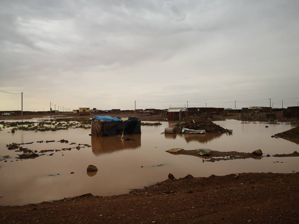سيول داخل أحياء مدينة أكجوجت جراء الأمطار خلال الساعات الماضية