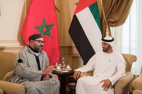 ولي عهد أبو ظبي محمد بن زايد وملك المغرب محمد السادس