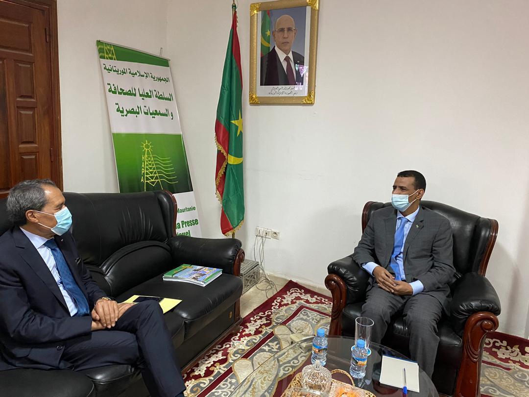 رئيس الهابا خلال لقائه مع السفير المغربي بنواكشوط